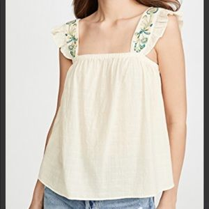 Madewell Fern embroidery top
